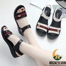 媽媽鞋涼鞋夏季真皮軟底老人中老年平底中年女鞋舒適防滑【創世紀生活館】