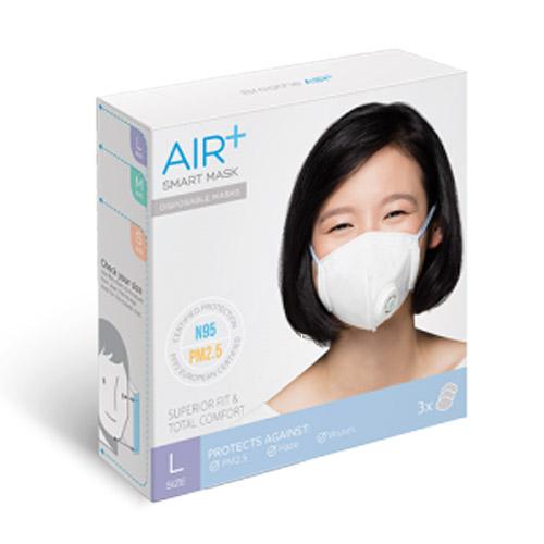 AIR+氣益佳智慧型口罩(L) x3入【杏一】