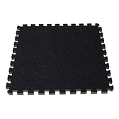 橡膠巧拼地墊62x62x1.5cm4入-藍黑