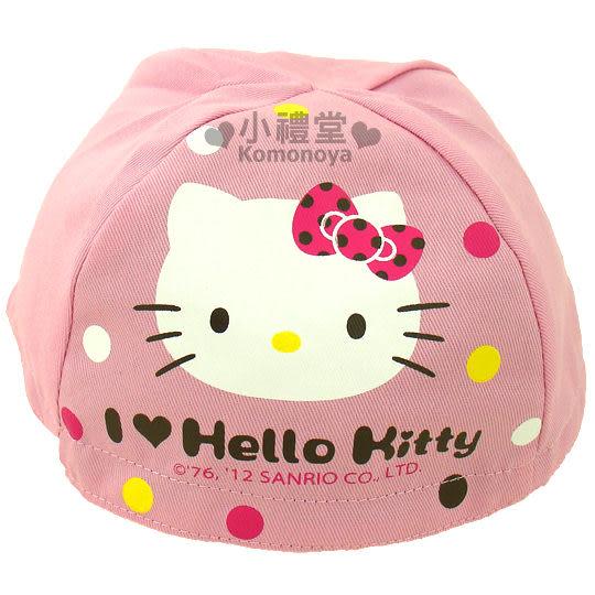 〔小禮堂〕Hello Kitty 安全帽內襯《粉紅.大臉》防塵衛生避免異味  4713902-07333