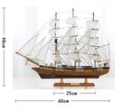 手工木質工藝品帆船模型地中海商務生日禮品