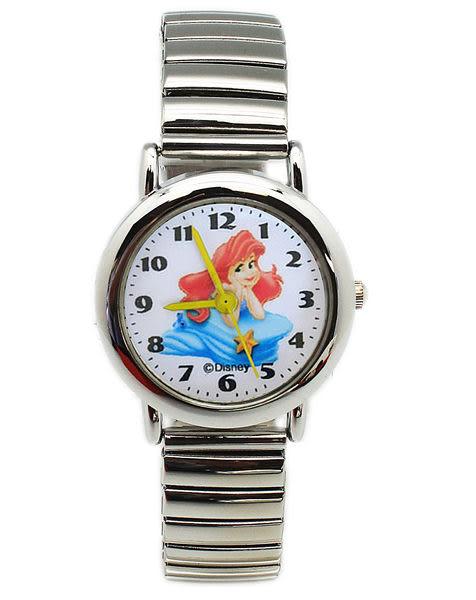 【卡漫城】小美人魚 公主 不鏽鋼 伸縮 錶帶 手錶 ㊣版 愛麗兒 Ariel 人魚公主 卡通錶 女錶