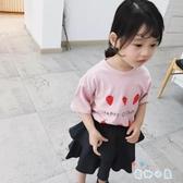 女童短袖T恤印花童裝上衣兒童可愛韓版夏裝短袖【奇趣小屋】