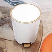 垃圾桶 輕奢風垃圾桶不銹鋼帶蓋家用客廳高檔廚房大號北歐創意衛生間廁所 「雙10特惠」