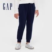 Gap女童 仿羊羔絨簡約風鬆緊休閒褲 618250-海軍藍