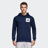 Adidas Essential Pullover 男 藍 連帽上衣 長袖 大學T 帽T 保暖 棉質 S98771