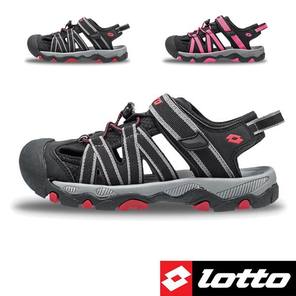 女款 LOTTO 3320 束扣護趾透氣排水防滑耐磨易曲折輕量軟Q水陸車鞋休閒運動涼鞋護趾涼鞋 59鞋廊