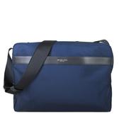 MICHAEL KORS 大款 輕量尼龍皮飾邊斜背包 電腦包 書包(藍色)-37H6LKNM3C