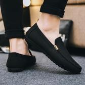 豆豆鞋男鞋冬季新款鞋子男士休閒鞋布鞋男一腳蹬懶人鞋低幫鞋  魔法鞋櫃