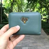 真皮卡包大容量零錢包小巧錢包女式駕駛證包銀行卡套多卡位卡片夾 貝芙莉