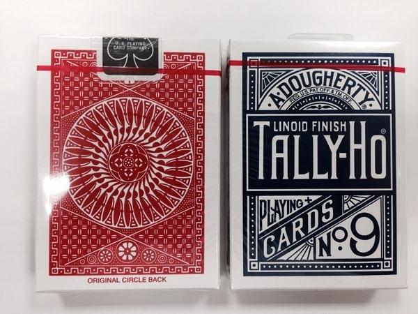 【USPCC撲克館】TALLY-HO 撲克牌 9R14 圓紅藍背
