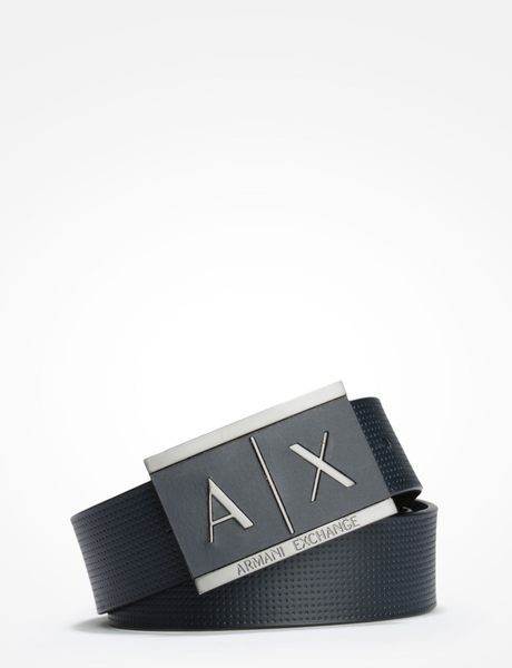 美國代購 AX ARMANI EXCHANGE 深藍色 牛皮革皮帶 (W30~W40)
