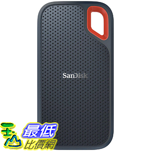 [8美國直購] SanDisk 500GB Extreme Portable External SSD - Up to 550MB/s - USB-C, USB 3.1 - SDSSDE60-500G-G25