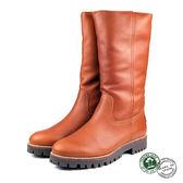 【Panama Jack】Tania時尚真皮毛內裡長靴/毛靴/女靴 棕色(P3305W-BR)