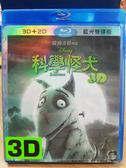 挖寶二手片-Q00-303-正版BD【科學怪犬 3D+2D】-藍光動畫