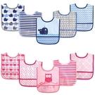 【韓風童品】(5件/組)Luvable Friends 男女童PEVA環保透明完全防水圍兜 可愛動物圖案 兒童吃飯衣