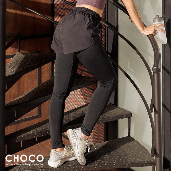 Choco Shop-美型感受‧兩件式美型機能貼身運動褲(黑色) S~XL