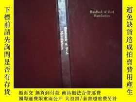 二手書博民逛書店Handbook罕見of Food Manufacture 食品