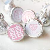 婚禮小物 - Pink主題-KISSES水滴巧克力(每包100顆)-創意喜糖/迎賓/送客 幸福朵朵(10包賣場)