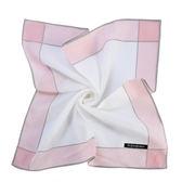 YSL 花邊浪漫玫瑰刺繡純棉帕巾(粉紅色)989027-22