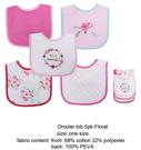 [Mamae] 美國 Luvable Friends (5件套)小花圖案防水毛巾布圍兜 兒童圍嘴 嬰幼兒吃飯衣