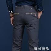 夏季薄款休閒褲男士直筒寬鬆長褲子男韓版潮流商務秋季工裝褲 可然精品