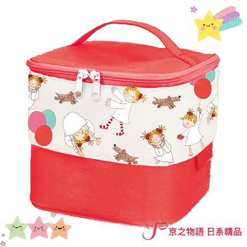 【京之物語】現貨-日本COCO and Wondrous Gang小女孩2way保溫保冷手提箱 野餐 午餐盒