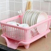 瀝水架廚房放碗架塑料用品瀝水滴水碗碟架碗筷收納置物架收納盒收納籃XW(萬聖節)
