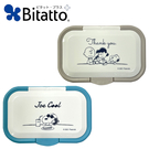 【日本正版】史努比 按壓式 濕紙巾蓋 L號 日本製 濕紙巾盒蓋 重複黏 Snoopy Bitatto 488882 488912