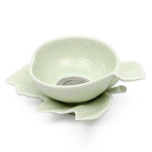青瓷葉形濾茶器