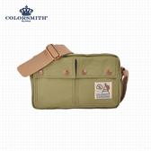 【COLORSMITH】CV.雙層側背包.CV1107-A-GN