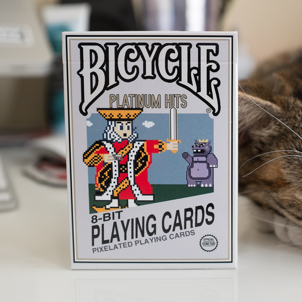 【USPCC 撲克】BICYCLE 8-BIT platinum PLAYING CARDS 8位元白金版撲克牌