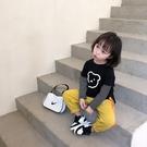 女童秋裝新款長袖t恤洋氣寶寶純棉外穿打底衫兒童拼接時髦上衣潮  【端午節特惠】