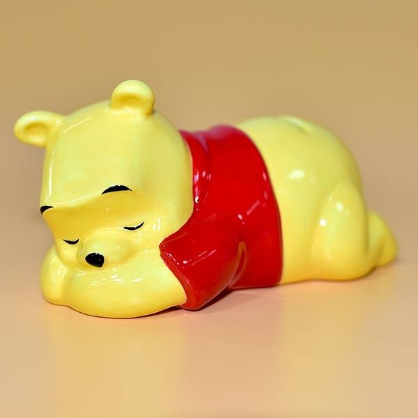 安眠小熊維尼 陶瓷 存錢箱 貯金箱 撲滿 日本迪士尼正版 pooh