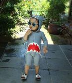 兒童泳衣男童女孩連體鯊魚防曬速幹嬰兒小童寶寶1-3歲長袖游泳裝 提拉米蘇