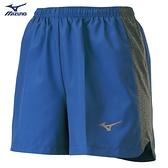 MIZUNO 女裝 短褲 慢跑 路跑 褲口反光 兩側拉鍊口袋 單層 灰藍【運動世界】J2TB125415