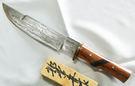 郭常喜與興達刀鋪-木柄獵刀(A0288)花梨木+黑檀木刀柄