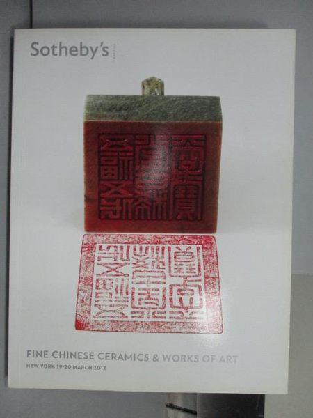 【書寶二手書T3/收藏_QAZ】Sotheby s_Fine Chinese Ceramic&…Art_2013