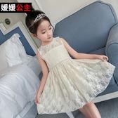 童女童蕾絲連身裙兒童背心裙公主裙中大童裙子吾本良品