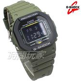 G-SHOCK DW-5610SU-3 CASIO卡西歐 街頭時尚完美搭配 復古錶 電子錶 軍綠 男錶 DW-5610SU-3DR