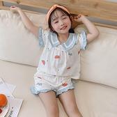 兒童睡衣女夏季純棉短袖薄款可愛公主寶寶中大童家居服夏天套裝11 幸福第一站