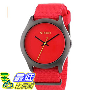 [106美國直購] 手錶 NIXON Mens Quartz Black Ion-Plated Stainless Steel Nylon Casual Watch (A348-1600)
