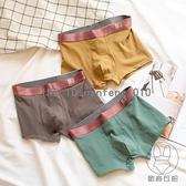 3條裝 男士內褲純棉平角褲透氣舒適簡約四角褲中腰短褲褲衩【貼身日記】
