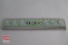 過激貓 15公分鐵邊尺 透明 綠色 KRT-768807