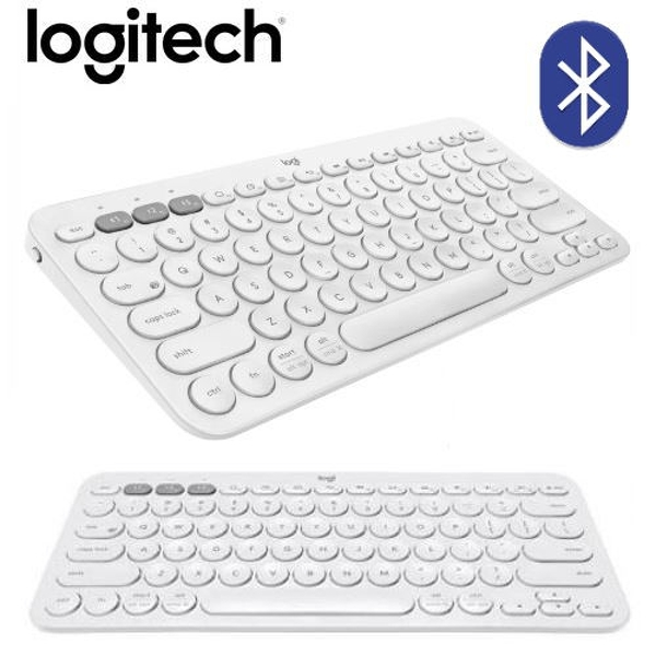 【Logitech 羅技】K380 多工藍芽鍵盤(珍珠白/中文)  【贈可愛防蚊夾】