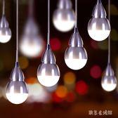 創意個性loft愛迪生燈泡LED暖白吊燈tz6386【歐爸生活館】