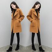 毛呢外套女中長款韓版冬季赫本風百搭顯瘦呢子大衣 - 風尚3C