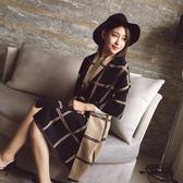 圍巾女秋冬季韓版百搭雙面格子披肩圍巾 LQ771『夢幻家居』
