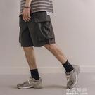 日系潮流寬鬆抽繩工裝短褲五分褲男士夏季青年休閒褲版潮【小艾新品】