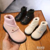秋冬加絨寶寶靴子1-3歲鞋女兒童馬丁靴女童短靴小童公主棉鞋    原本良品